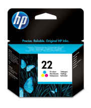 foto de HP original 22 Tri-color cartucho de tinta