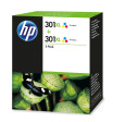 foto de HP 301XL 2-pack High Yield Tri-color Original Ink Cartridges