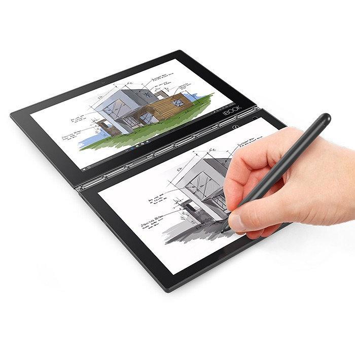Lenovo Yoga Book Negro, Carbono Híbrido (2-en-1) 25,6 cm