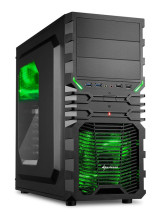 foto de Sharkoon VG4-W Midi-Tower Negro, Verde